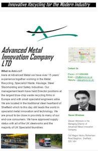 Advanced metal Innovation company